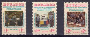 Ecuador 1975 Sc#910/C547/C548 Ministers Meeting Set (3) MNH