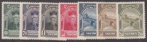 Ecuador - 1947 - SC C165-71 - H - Complete set