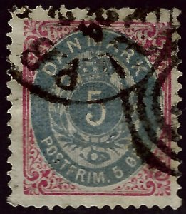 Denmark SC#27 Used F-VF hr Cat $72.50...steal the deal!!