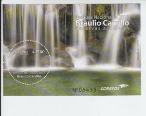 2013 Costa Rica National Park Braulio Carillo SS (Scott 656) MNH