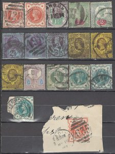 COLLECTION LOT OF #1045 GREAT BRITAIN 17 STAMPS 1887+ CV+$151 CLEARANCE