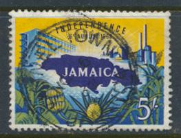 Jamaica SG 196  Used light crease  SC# 184  Independence  see details