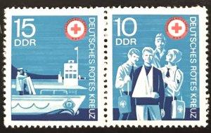 DDR #1399-1400 MNH Pair CV$0.60 [#1399 on Right]