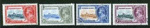Leeward Island SG88/91 1935 Silver Jubilee Set Used