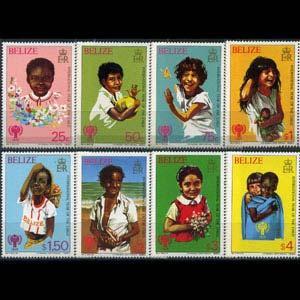 BELIZE 1980 - Scott# 490-7 Intl.Year of Child Set of 8 NH
