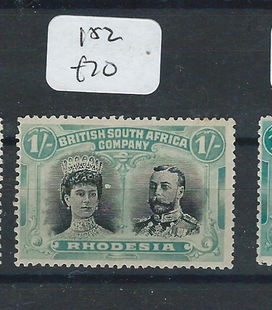 RHODESIA (P1612B) DOUBLE HEAD 1/-    SG152    EXTREMELY FRESH FULL MOG