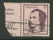 Australia SG 435  VFU  Booklet stamp with partial label -...