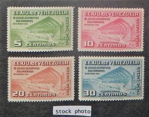 Venezuela C334-37. 1951 Bolivarian Games, NH