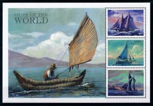 [78731] Uganda 1998 Sailing Ships Fishing Boats Sheet MNH