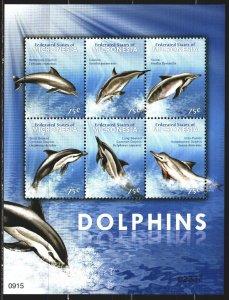 Micronesia. 2009. Small sheet 1973-78. Dolphins, fauna. MNH.
