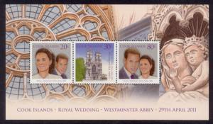 Cook Islands Sc# 1366a MNH Royal Wedding (M/S)