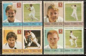 Tuvalu - Niutao 1985 Famous Cricket Player Sport 8v MNH # 3377