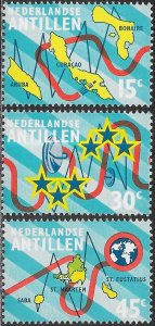 Netherlands Antilles (Curacao) 352-354 MNH - Inter-Island Submarine Cable