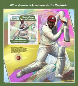 C A R - 2017 - Viv Richards, Cricketer, 65th Birthday - Souv Sheet - M N H