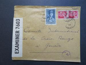 Algeria 1943 Blida POW Censor Cover to Switzerland - Z8009