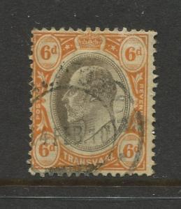 Transvaal #274 Used 1904 Single 6p Stamp