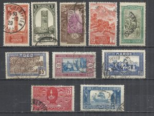 FRENCH COLONIES - LOT OF 10 DIFFERENT  6 - POSTALLY USED