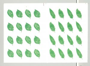 Abkhazia (Georgia) 1998 Trees, Leaves 2v M/S 16 in 1v Collective Proof x 3v P/P