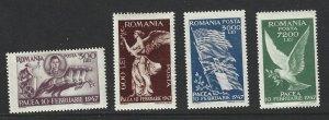 Romania Scott  642-645 Mint Set Signing Peace Treaty stamps 2017 CV $2.00
