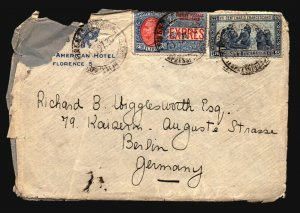Italy 1920 Cover to Germany / Mixed Condition / Better Issues - Z16354