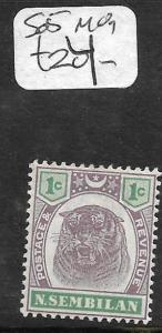 MALAYA NEGRI SEMBILAN (P1412B) TIGER 1C  SG 5  MOG