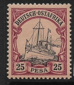 GERMAN EAST AFRICA SG21 1901 25p BLACK & PURPLE ON BUFF MTD MINT