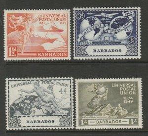 Barbados 1949 UPU UM/MNH SG 267/70