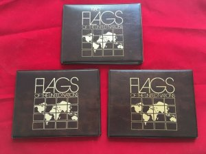 UN 1980, 1981, 1982 Flag Series sheets Lot of 3 in Folio with books