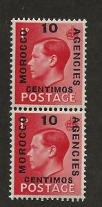 GREAT BRITAIN OFFICES - MOROCCO SC# 79-79a  FVF/MOG 1936
