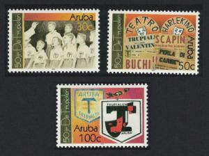 Aruba 50th Anniversary of 'De Trupialen' boys' organization 3v SG#318-320