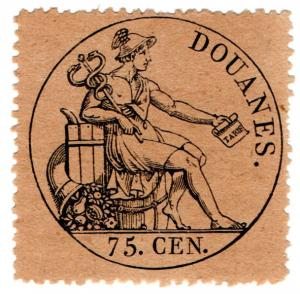 (I.B) France Revenue : Douanes 75c (Customs)
