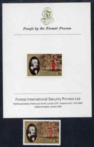 Zambia 1979 Rowland Hill 32n imperf proof mounted on Form...