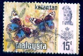 Butterfly, Malaysia - Malacca stamp SC#79 used