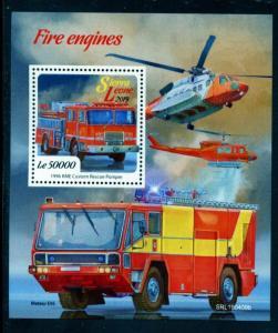 SIERRA LEONE  2019 FIRE ENGINES SOUVENIR  SHEET MINT NH