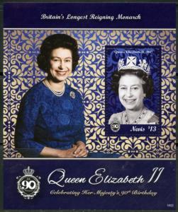 NEVIS 2016 QUEEN ELIZABETH II 90th BIRTHDAY SOUVENIR SHEET MINT NH