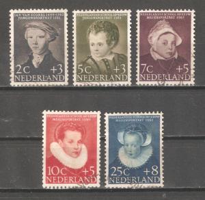 Netherlands 1956,Semi Postal Children's Portraits,Sc B301-B305,VF USED