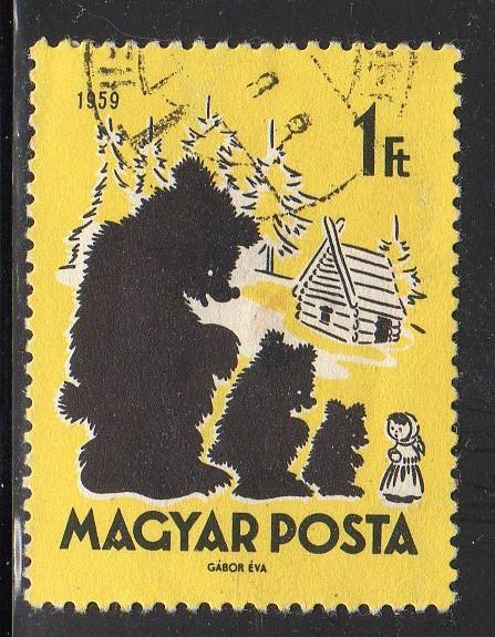 Hungary 1278 - CTO - Mashenka and the Three Bears