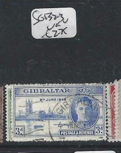 GIBRALTAR  (P0207B)  KGVI  PEACE  SG 132-3   VFU