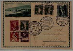 Switzerland/Germany/Iceland Zeppelin card 29.6.31