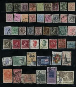 Belgium  70 different Mint & used  PD
