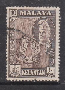 Malaya Kelantan 1957 Sc 77 10c Used