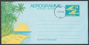 FIJI 1998 Postage Paid aerogramme CTO - Suva cds............................L458