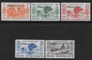 NEW HEBRIDES - BRITISH SC# J11-15 FVF/MLH 1953