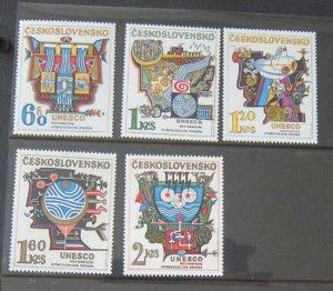 Czech Republic Sc 1931-35 set UNESCO MNH