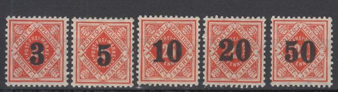 Wurtemberg - 1923 Post-Inflation first set - MH (9506)