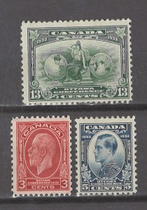 COLLECTION LOT # 3094 CANADA #192-4 MH 1932 CV+$18