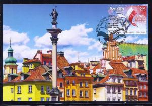 POLAND ISRAEL 2018 JOINT ISSUE STAMPS MAXIMUM CARD WARSAW
