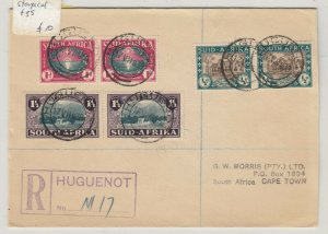 South Africa 1939 Huguenot Multistamp Cover To Cape Town Postal History J6069