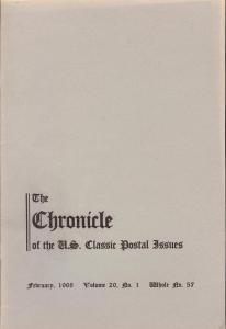 The Chronicle of the U.S. Classic Issues, Chronicle No. 57