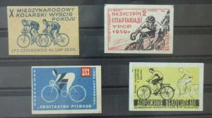 Match Box Labels ! sport olympic games cycling race GN94